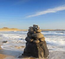 Beach Sculpture, Embleton Bay, Northumberland by Craig Williams