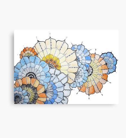 Coloured Flower Design Canvas Print