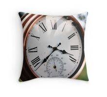 garden clock colour Throw Pillow