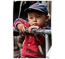 tibetan boy. mcleod ganj, india Poster