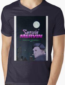 Swervin' Mervin 80s Arcade Racing Game Mens V-Neck T-Shirt