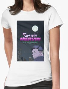 Swervin' Mervin 80s Arcade Racing Game Womens Fitted T-Shirt