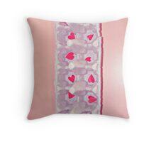 hearts by the dozen Throw Pillow
