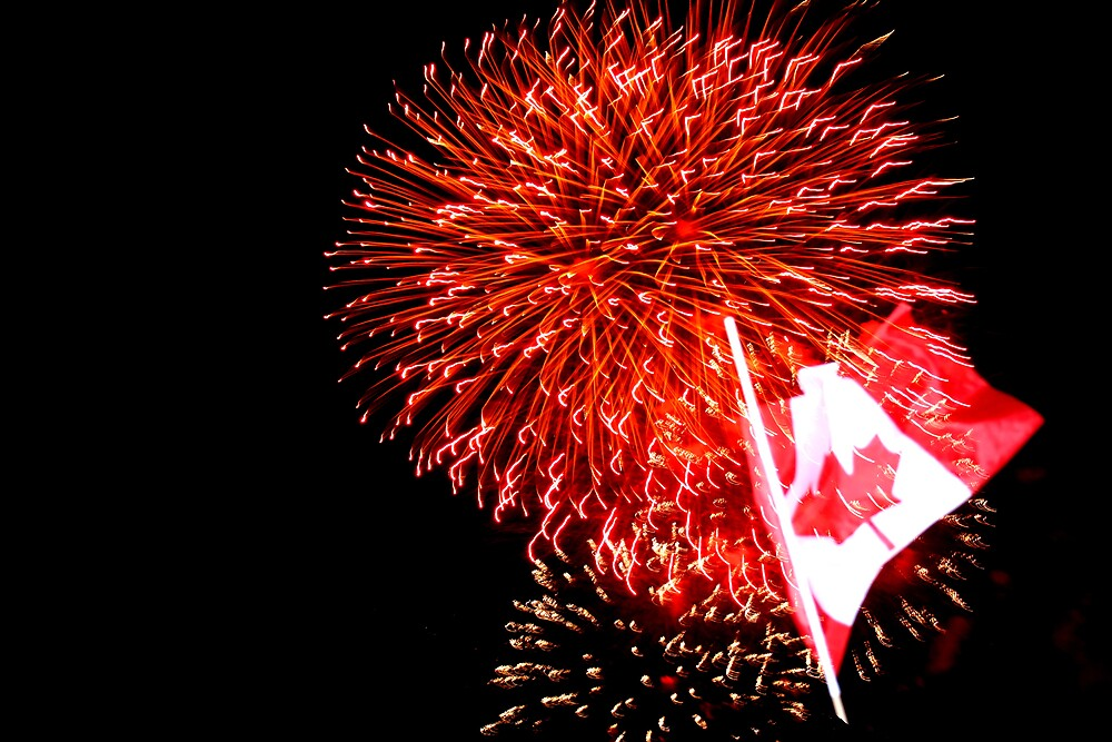 Canada Day Fireworks by Dan Shiels