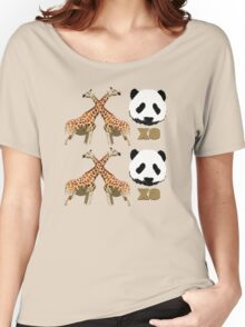 XOXO Wild Animals Women's Relaxed Fit T-Shirt