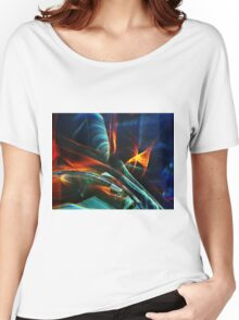 Red and blue light abstraction Women's Relaxed Fit T-Shirt
