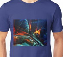 Red and blue light abstraction Unisex T-Shirt