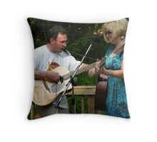the cat with 9 lives (and his lady) Throw Pillow