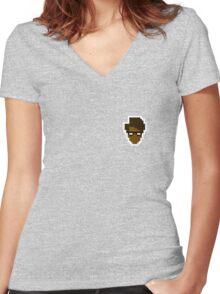 Retro Moss Women's Fitted V-Neck T-Shirt