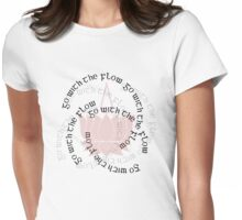 Go With The Flow Lotus Womens Fitted T-Shirt