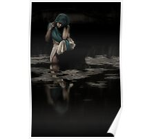 Girl By water , Nudgee Poster
