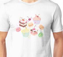 sweet cupcake pattern Unisex T-Shirt