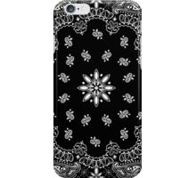 Black bandana iPhone Case/Skin