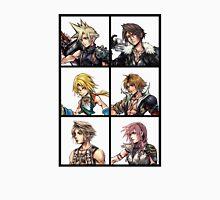 Final Fantasy Characters Design   Cloud Squall Zidane Tidus Vaan Lightning T-Shirt