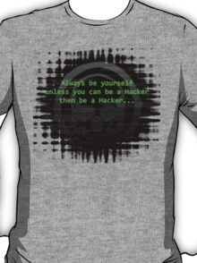 Hacker 1.0 - Geek Philosophy style skull - Software, coding and hacking designs  T-Shirt