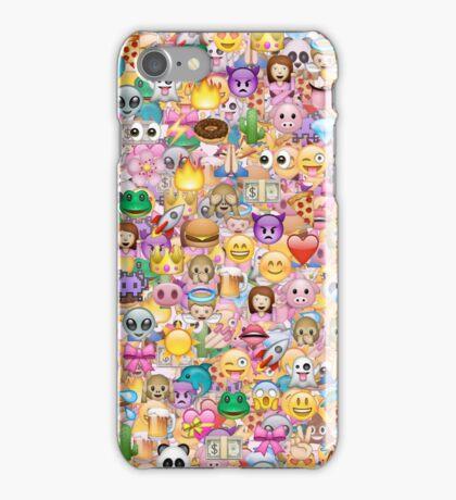 happy emoji pattern iPhone Case/Skin