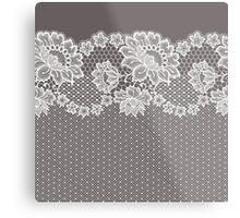 Lace ribbon. Metal Print