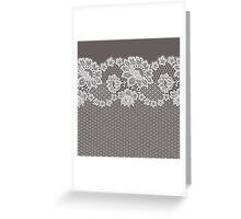Lace ribbon. Greeting Card
