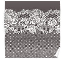 Lace ribbon. Poster