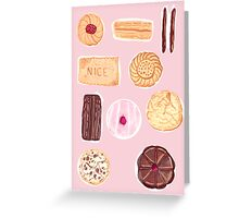 English Biscuits Greeting Card