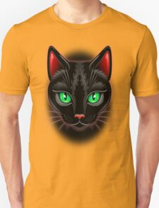 Black Cat Portrait  T-Shirt