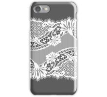 White lace ribbon. iPhone Case/Skin