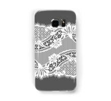 White lace ribbon. Samsung Galaxy Case/Skin
