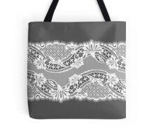 White lace ribbon. Tote Bag