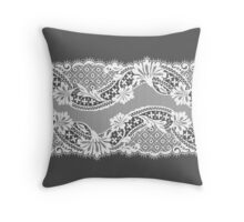 White lace ribbon. Throw Pillow