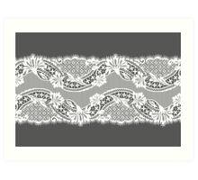 White lace ribbon. Art Print