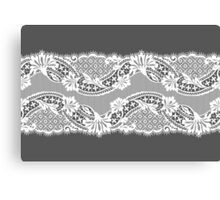 White lace ribbon. Canvas Print