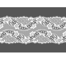 White lace ribbon. Photographic Print