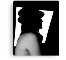 Black and white Lucy Canvas Print