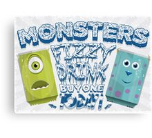 Monsters Fizzy Drink Canvas Print