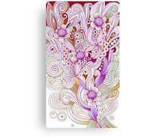 Flower fire, purple Canvas Print
