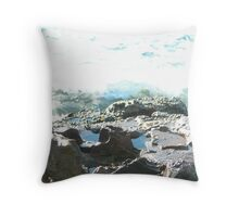 Sea meets land 2 Throw Pillow