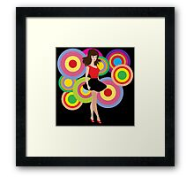 Retro Girl Framed Print