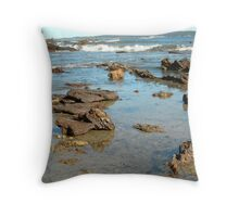 Sea meets land 9 Throw Pillow