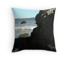 Sea meets land 10 Throw Pillow