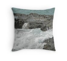 Sea meets land 11 Throw Pillow