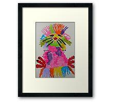 Funky hedgehog Framed Print