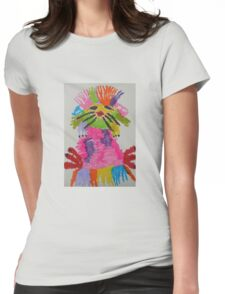 Funky hedgehog Womens Fitted T-Shirt