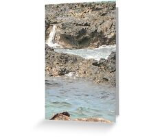 Sea meets land 12 Greeting Card
