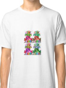 Funky hedgehog pop art Classic T-Shirt