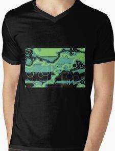 Green abstract Mens V-Neck T-Shirt