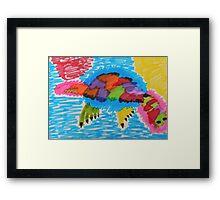 Funky platypus Framed Print
