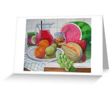 Honey and Fruit Greeting Card