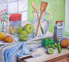 Still Life by Window by nancy salamouny