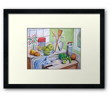 Still Life by Window Framed Print