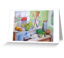 Still Life by Window Greeting Card